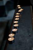 Herdenkings Kaarsen Stock Afbeeldingen