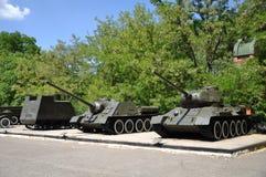 Herdenkings - Museum van Defensie van Odessa Bewapening van 411 batterijen van de kustvloot stock foto's