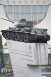 Herdenkings t-34 Russische tank, Tank op de heuvel stock foto's