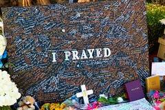 Herdenkingsbericht van Las Vegas die slachtoffers schieten royalty-vrije stock foto