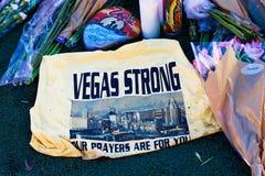 Herdenkingsbericht van Las Vegas die slachtoffers schieten royalty-vrije stock fotografie