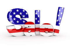 Herdenkingsdag of vierde van Juli-verkoop stock illustratie