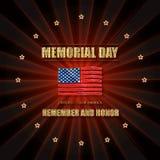Herdenkingsdagbanner Stock Fotografie