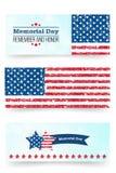 Herdenkingsdagbanner Herinner me en eer Vectorllustration voor Amerikaanse vakantie Ontwerpmalplaatje voor affiche, banner Royalty-vrije Stock Afbeeldingen