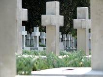 Herdenkingskruisen op de graven Royalty-vrije Stock Fotografie