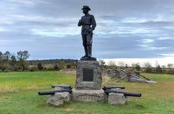 Herdenkingsmonument, Gettysburg, PA Stock Afbeeldingen