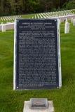 Herdenkingsplaques bij Nationale Begraafplaats stock foto