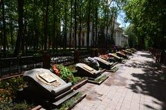 Herdenkingssteeg - de begrafenis van militairen die tijdens de bevrijding van Vitebsk stierven royalty-vrije stock afbeeldingen