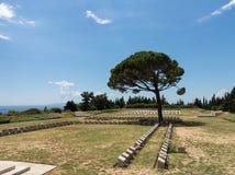 Herdenkingssteen in Anzac Cove Gallipoli stock foto