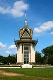 Herdenkingsstupa van Choeung Ek Stock Afbeelding