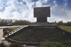 herdenkingsteken van het centrum van de Oekraïne stock fotografie
