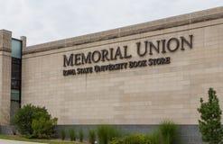 Herdenkingsunie en de Universiteitsboekhandel van de Staat van Iowa Stock Afbeelding