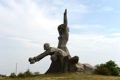 Herdenkingszmievskaya Balka - in geheugen van de slachtoffers van Nazisme stock afbeeldingen