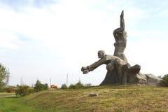 Herdenkingszmievskaya Balka - in geheugen van de slachtoffers van Nazisme stock foto's