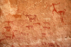 Herder Cave Painting stock photo