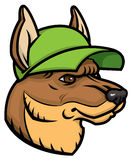 Herder Head Logo Stock Foto's