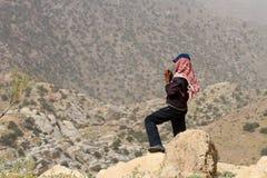 Herder in Jordanië stock afbeeldingen