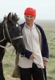 Herder met paard Stock Foto's