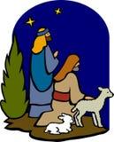 Herders van de Geboorte van Christus/eps Stock Foto