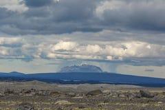 Herdubreid under regnet, Skotska högländerna av Island, Europa fotografering för bildbyråer