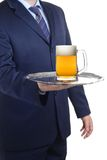 Here's your beer Sir Royalty Free Stock Images