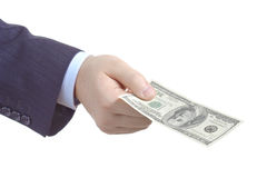 Here's your money Stock Photography