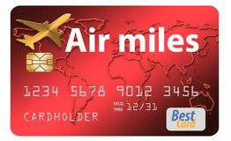 Here is an air miles reward credit card royalty free illustration