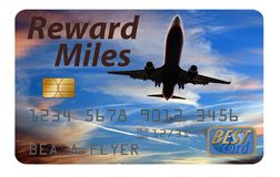 Here is an air miles reward credit card stock images