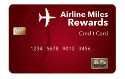 Here is an airlines rewards credit card, a frequent flier credit card. This is an illustration royalty free illustration