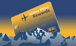 Here is an airlines rewards credit card, a frequent flier credit card. This is an illustration vector illustration