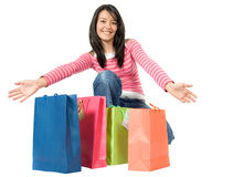 Here is all my shopping Royalty Free Stock Photography