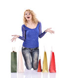 Here is all my shopping Stock Photo