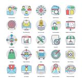 Digital and Internet Marketing Flat Icons. Here is an awesome set of Internet and digital marketing  icons that is great for marketing and promotion of your Royalty Free Stock Photo