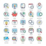 Digital and Internet Marketing Flat Icons Set. Here is an awesome set of Internet and digital marketing  icons that is great for marketing and promotion of your Royalty Free Stock Photos