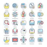 Pack Of Flat Digital and Internet Marketing Icons. Here is an awesome set of Internet and digital marketing  icons that is great for marketing and promotion of Stock Images