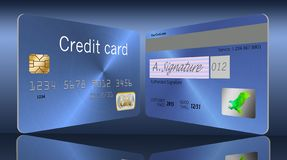 Here is the back of a credit card. royalty free illustration