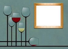 Here is a blank framed area that can be used to add text or art in a layout. This is an illustration vector illustration