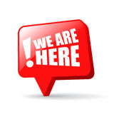 We are here bubble Royalty Free Stock Image