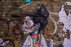 Urban art through the streets of London royalty free stock images