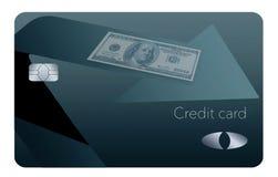 Here is a cash back rewards credit card. stock illustration
