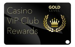 Here is a casino VIP club rewards card stock illustration
