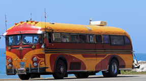 Here comes the hippy bus! Stock Images