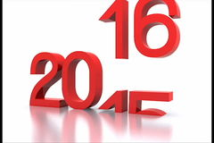 2016. Here comes the new year ... 2016 - 3D stock video footage