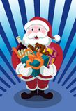 Here Comes Santa Bearing Gifts Stock Images