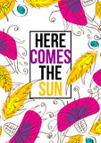 Here comes the sun Stock Images