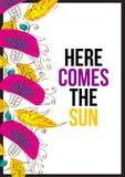 Here comes the sun Stock Photos