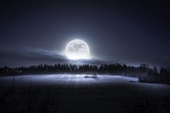 Here Comes The Moon Stock Image