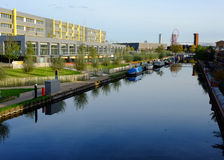 East London, UK: Here East building, Hackney Wick, Stratford Stock Photo