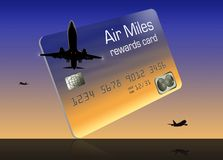 Here is a generic air miles rewards credit card. It is isolated on background vector illustration