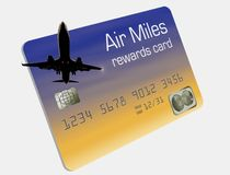 Here is a generic air miles rewards credit card. It is isolated on background royalty free illustration